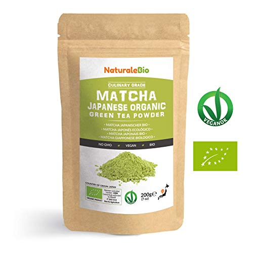 Japanese Organic Matcha Green Tea Powder [ Culinary Grade ] 200 gr | Tea Produced in Japan, Uji, Kyoto | Use for Cooking, Baking, Smoothie Making and with Milk | Vegan & Vegetarian Friendly