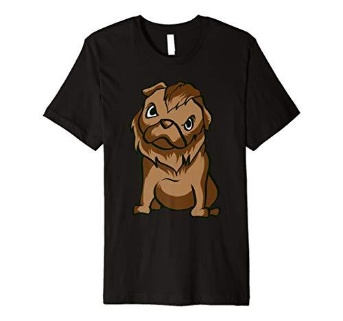 Mops Werwolf T-Shirt Funny Horror Halloween Geschenk-Shirt