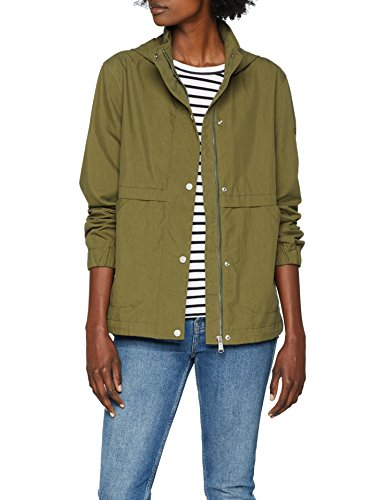 Tommy Jeans Damen Short Hooded Parka Langarm  Jacke Grün (Military Olive 393) Medium