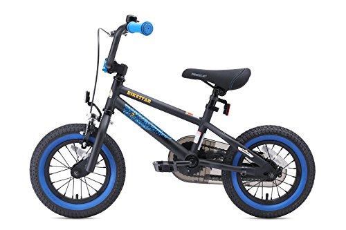 BIKESTAR Bicicletta Bambini 3-4 Anni da 12 Pollici ★ Bici per Bambino et Bambina BMX con Freno a retropedale et Freno a Mano ★ Nero & Blu - 4