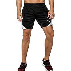 Cody Lundin® Hombres Compresión Deporte Pantalones cortos running Formación Baloncesto Pantalones (M)