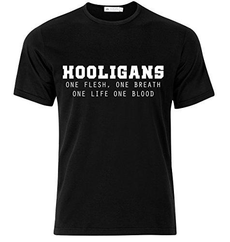 Rule Out Maglietta hooligans. UNO vita. UNO blood. CALCIO fanatici. sportswear. Casual Nero