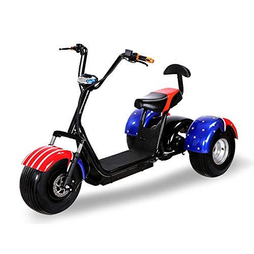 LMJ-XC DREI Runden Harley Elektroauto Elektro Skateboard Lithiumbatterie Harley Elektro Walker 60V / 20AH 1500W abnehmbare Lithiumbatterie,A (Elektro-roller 1500w)