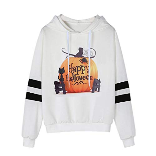 (IZHH Frauen/Damen Halloween Mode Shirts Tops Pullover Sweatshirt Sweater Blusen Kostüm Streetwear Partei Verein Oktoberfest Herbst Winter 2018, Kürbis Gedruckt Langarmshirt Beiläufig Kapuzenpullover)