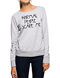 Normal People Scare Me Sweater Girls Gris