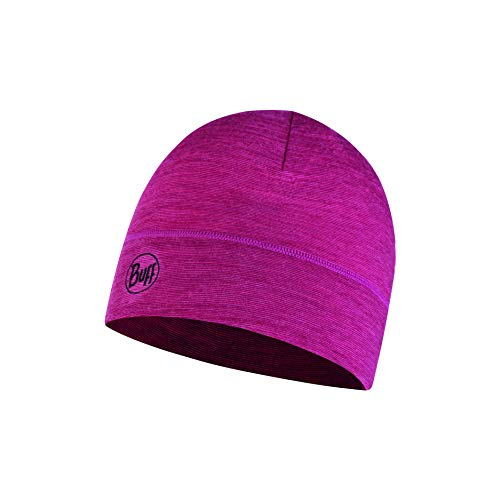 Buff Damen Lightweight Merino Wool Hat, Multi Stripes Purple, One Size -