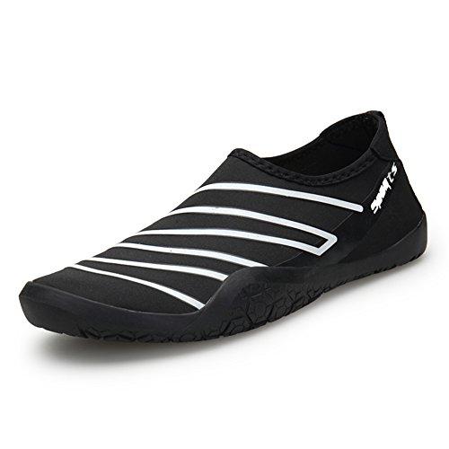 Bild von Fexkean Herren Damen Badeschuhe Aquaschuhe Wasserschuhe Strandschuhe Barfuß Schuhe Schnell Trocknend Playshoes Leuchten im Dunkeln