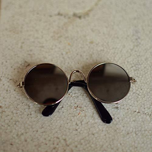 Seturrip - Pet Sonnenbrille Hund Augen-wear Katze Brille Little Dog Brille Fotos Props Hundekatzenzubehör Tierbedarf für kleine Hunde Artikel [Sliver Rahmen grau]