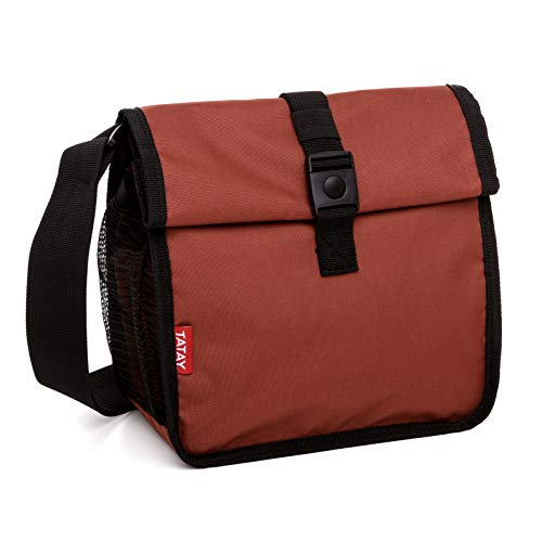 TATAY 1185004 - Urban Food Roll & Go Bolsa Porta Alimentos Isotérmica Enrollable, Tela, Teja, No incluye tapers, 6 x 22 x 28 cm