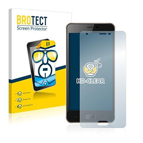 BROTECT Schutzfolie kompatibel mit Doogee X20 [2er Pack] - kristall-klare Bildschirmschutz-Folie, Anti-Fingerprint