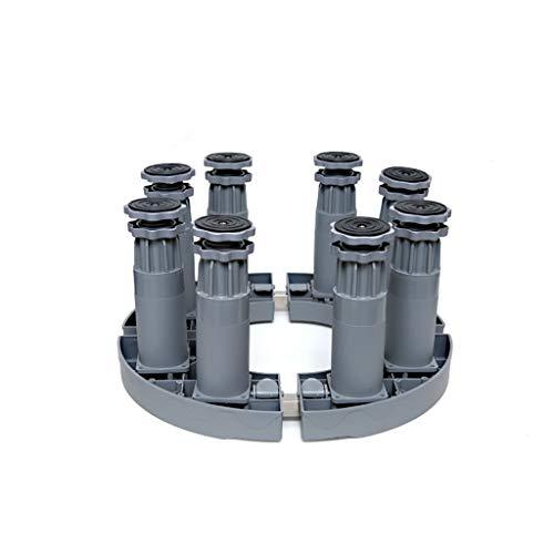 BJYG Runde Basishalterung für Klimaschrank Zylindrisch Erhöhen Sie den Blumentopf/das Aquarium/die Halterung Klappbarer Sockel Multifunktionale Plattform Verstellbarer 8-poliger Sockel Weiß G -