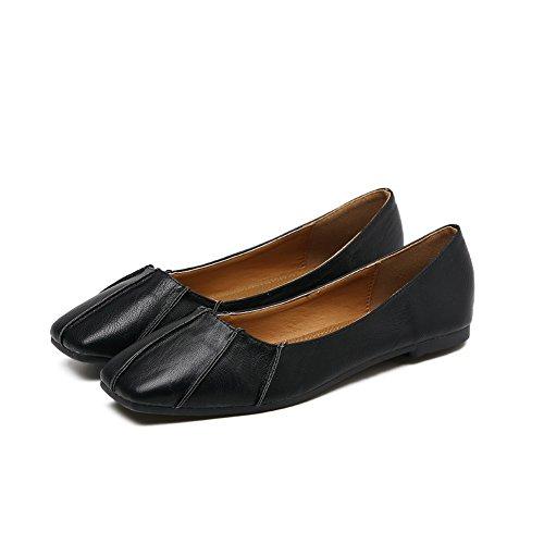 A & Ndiug00068 - Zapatos Negros Cerrados Para Mujer