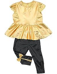 jinyouju bebé niña infantil Camisa Vestido + Leggings pantalones de ropa Trajes