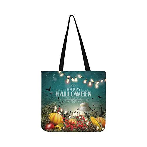 Halloween Poster Kürbisse Andere Traditionelle Halloween Leinwand Tote Handtasche Schultertasche Crossbody Taschen Geldbörsen Für Männer Und Frauen Einkaufstasche