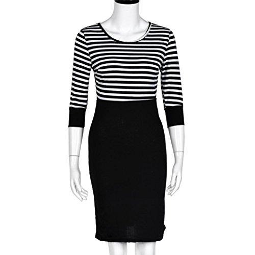 Kleider Damen, Dasongff Frauen Langarmkleid 3/4 Ärmel Schulterfrei Kleid Stretch Etuikleid Bleistiftkleid Abendkleid Partykleid Pencilkleid...