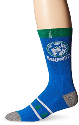 Stance Minnesota Timberwolves Hardwood Classics Logo NBA Socken Blau L (Schuhe Classic Nba)