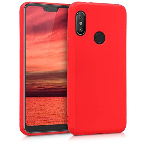 kwmobile Funda para Xiaomi Redmi 6 Pro/Mi A2 Lite - Carcasa para móvil en TPU Silicona - Protector Trasero en Rojo Mate