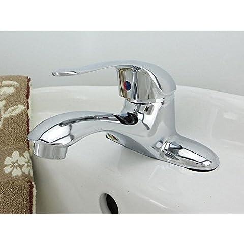 BBSLT-Rubinetto lavabo bagno moderno contemporaneo, rame e
