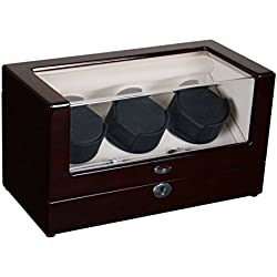 Watch winder Lindberg&Sons Brown for 3 self-winding watches UB8098brcr