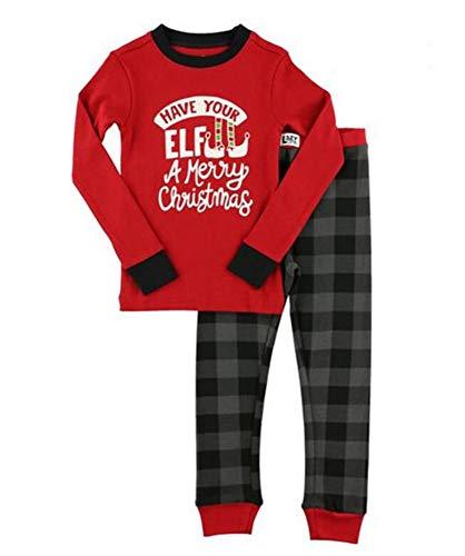 Domorebest Familie Passende Weihnachten Pyjama Set Klassische Brief Gedruckt Homewear Eltern-Kind Nachtwäsche