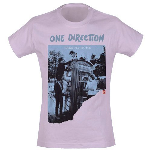 One Direction Take me Home officiel coupe Skinny pour femme-Rose-T shirt taille L