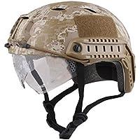 haoyk Bj tipo táctico casco Airsoft Paintball casco Fast con gafas de protección, AOR1