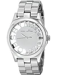Marc Jacobs MBM3205 - Reloj para mujer con correa de acero, color plateado / gris