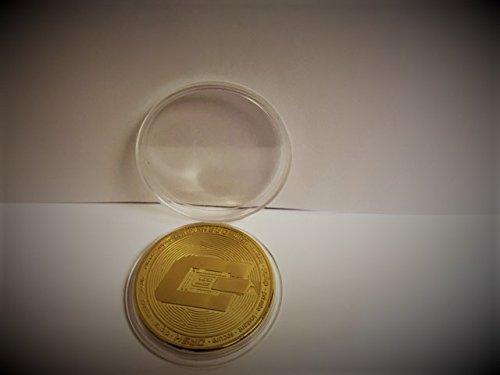 Dash Crypto Währung Münze Souvenir Vergoldet - 2