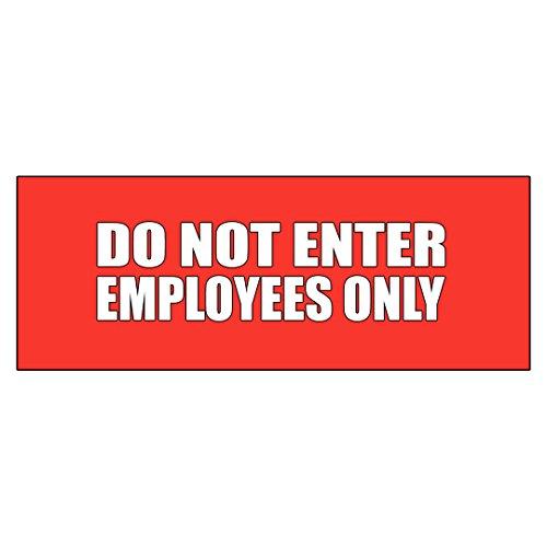 Do Not Enter Mitarbeiter nur Aufkleber Aufkleber Handel Schild 9.5 x 24 inches