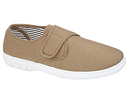Shoe Tree Herren-Schuhe aus Leinen, legere Slipper mit breiterem Schnitt, Schuhgrößen: 40 - 46, blau - taupe - Größe: 0-6 Monate (Herren Schuhe Leinen)