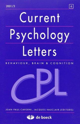 Current Psychology Letters 20012 -N.5 Recueil d'Articles