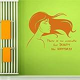 lyclff Salon de Coiffure Autocollant Salon de beautéFille Decal Haircut Posters Vinyle Mur Art Stickers Décor Windows Décoration Murale58 * 76 cm