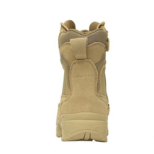 emansmoer Herren Militär Armee Tactical Combat Lace-up High-top Schuhe Wasserdicht Outdoor Sport Wandern Trekking Stiefel Gelb