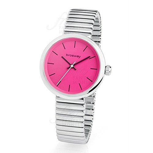 Reloj Brosway b-crazy Mujer Doble Correa Piel Rosa Acero BC05