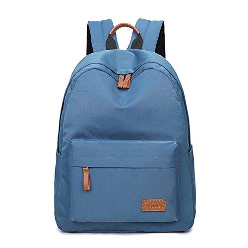 Artone Wasserabweisend Grösse Kapazität Daypacks Schulranzen Rucksack Mit Laptop-Fach Passen 14 Notizbuch Grün Wasserabweisend Blau