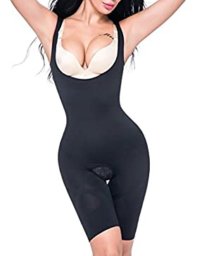 MISS MOLY Body Reductor|Mujer Leve Modeladora Faja Reductora Adelgazantes Bodysuit de Cintura Shapewear con Pierna...