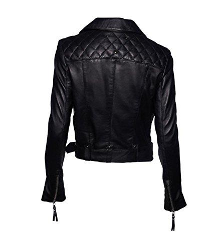 BE EDGY Damen Lederjacke Gipsy Bikerjacke Jacke Leder – Leder - 2
