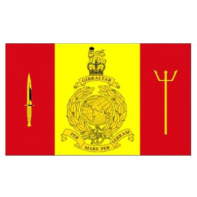 Fleet Protection Group Royal Marines 5x3ft Flag 70 Denier by Midland Imports