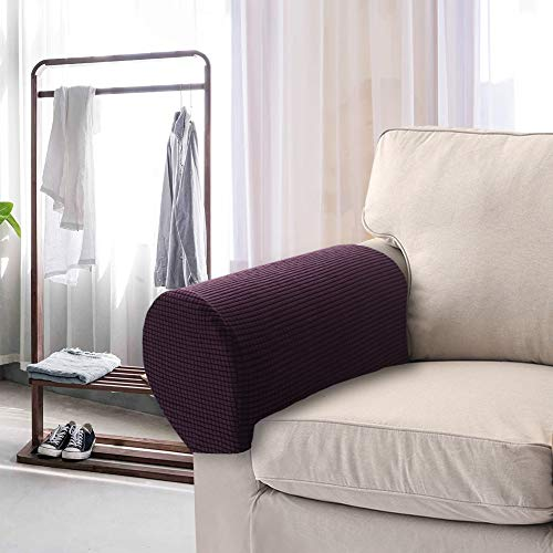 Stoff Sofa, Sofa Loveseat Sessel (Nibesser Armlehnenbezug, dehnbares Gewebe für Möbel, Anti-Rutsch-Armlehnenbezug, für Stoff- und Leder-Liegestühle, Sessel, Loveseats und Sofas)