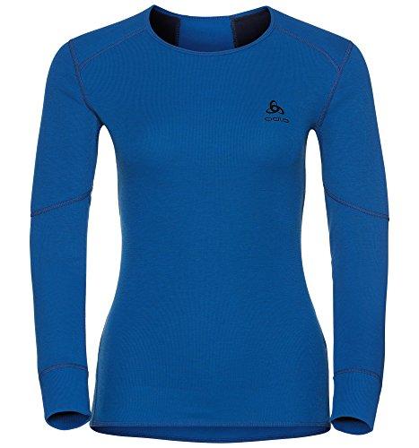 Odlo Damen Shirt l/s Crew Neck X-Warm Unterwäsche, Lapis Blue, M (Frühjahr Crew Shirt)
