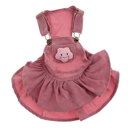 (perfk Hund Kleid Latzkleid mit Hosenträger für kleine und mittlere Hunde - Rosa)
