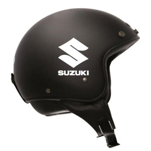 DELHI TRADERSS Vinyl Suzuki Retro Decal Sticker for All Helmet