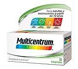 Multicentrum, Complemento Alimenticio con 13 Vitaminas y 11 Minerales, Adultos y adolescentes a partir de 12 años, 90 Comprimidos