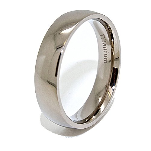 5.5mm Classic Domed Titanium Wedding Band (See Listing for Sizes)