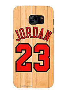 MiiCreations 3D Printed Hard Back Cover/Case for Samsung Galaxy S7,Matte Finish,Jordan 23