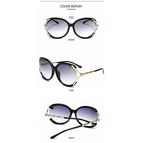 Kjwsbb Sonnenbrillen Runde Damen Shades Trends Damen Übergroße Sonnenbrille Circle Lens Sonnenbrille