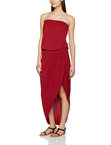 Urban Classics Damen Kleid Ladies Viscose Bandeau Dress Burgundy XS