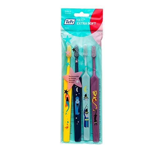 TePe Kids Select Compact Extra Soft Zahnbürste, 4-teilig -