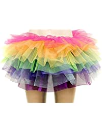 Aimerfeel femmes intimes multi-couleur 7 couche jupe tutu, taille (36-42)