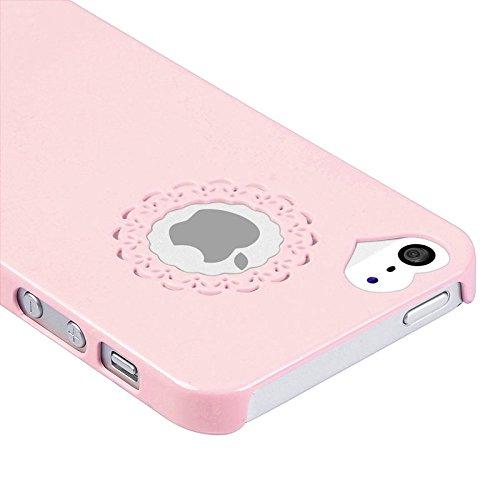 ChannelExpert Snap-on Hülle case Tasche Bumper Etui Cover Schutzhülle Schutzcover für Apple iPhone 5 Light Pink Sweet Heart Rear Hell Rosa